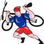 muž, ktorý rád bicykluje